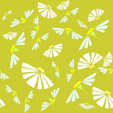 Background with flowers of chamomile stock vector