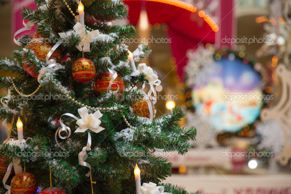 Christmas tree with folk decoration