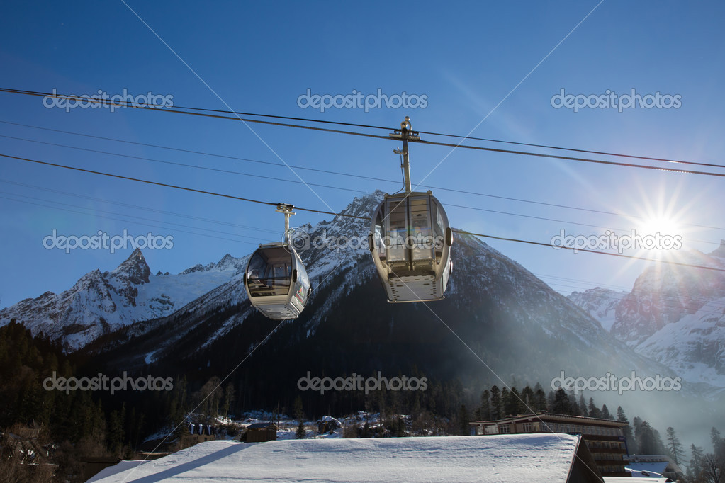 Cable Car in Ski Resort