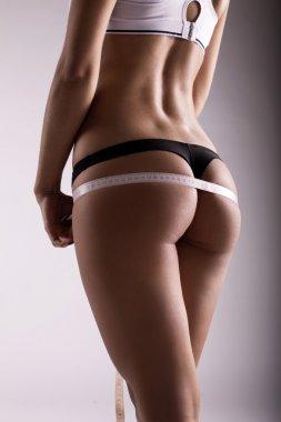 Sportive body of woman