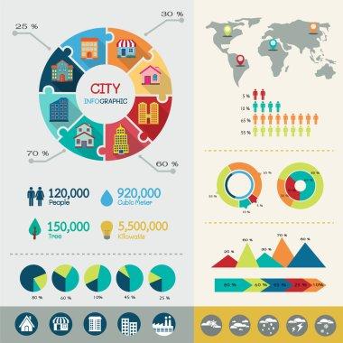 City infographic elements