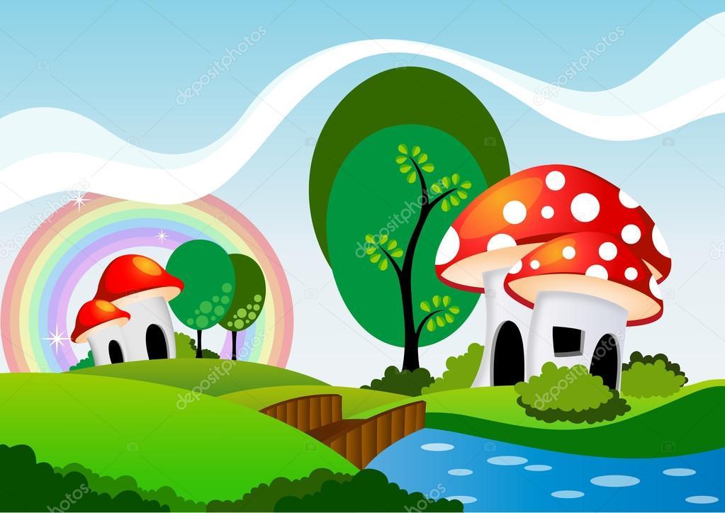 Mushrooms cartoon