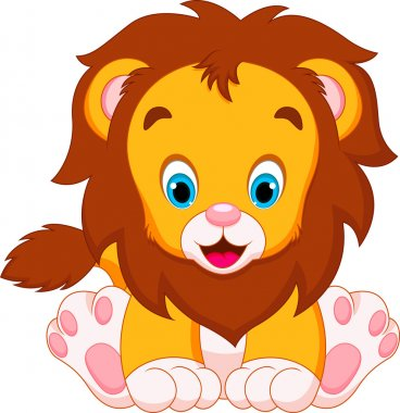 Lion babies cartoon