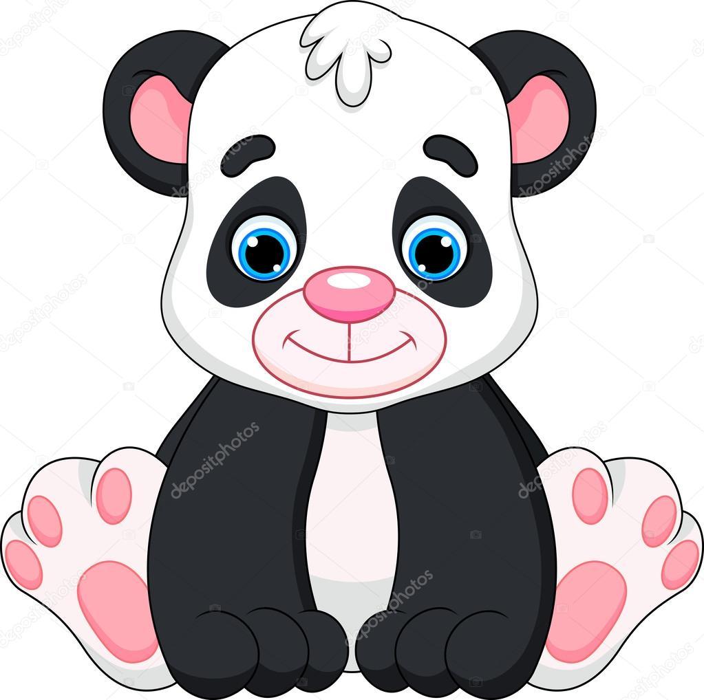 Cute Panda Baby Cartoon Stock Vector Irwanjos2 37414223