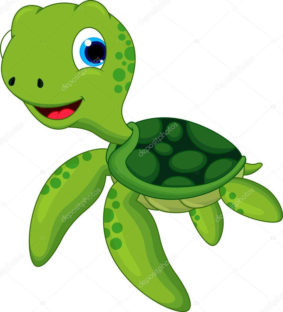 Drawings Cute Turtle Cartoon Cute Turtle Cartoon Stock Vector C Irwanjos2 37414251