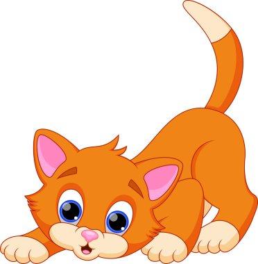 Illustration of funny cat cartoon stock vector