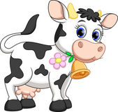 Fotografie Cute cow cartoon