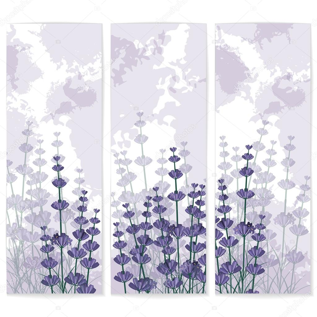 Lavender paper business cards with ink spots