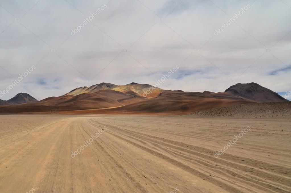 Dalis desert, surreal colorful barren landscape