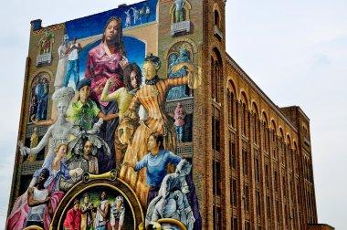 Mural painting. Philadelphia. Pennsylvania. USA.