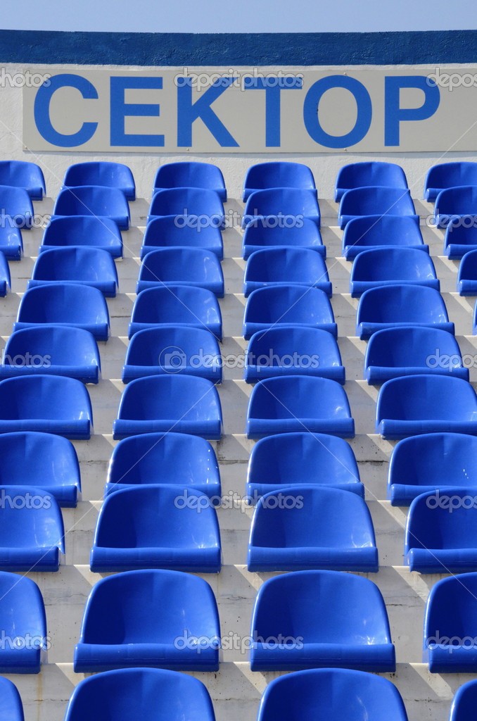 blue sector stadium depositphotos chairs chair inscription alisluch photo plastic of a empty by stock with the