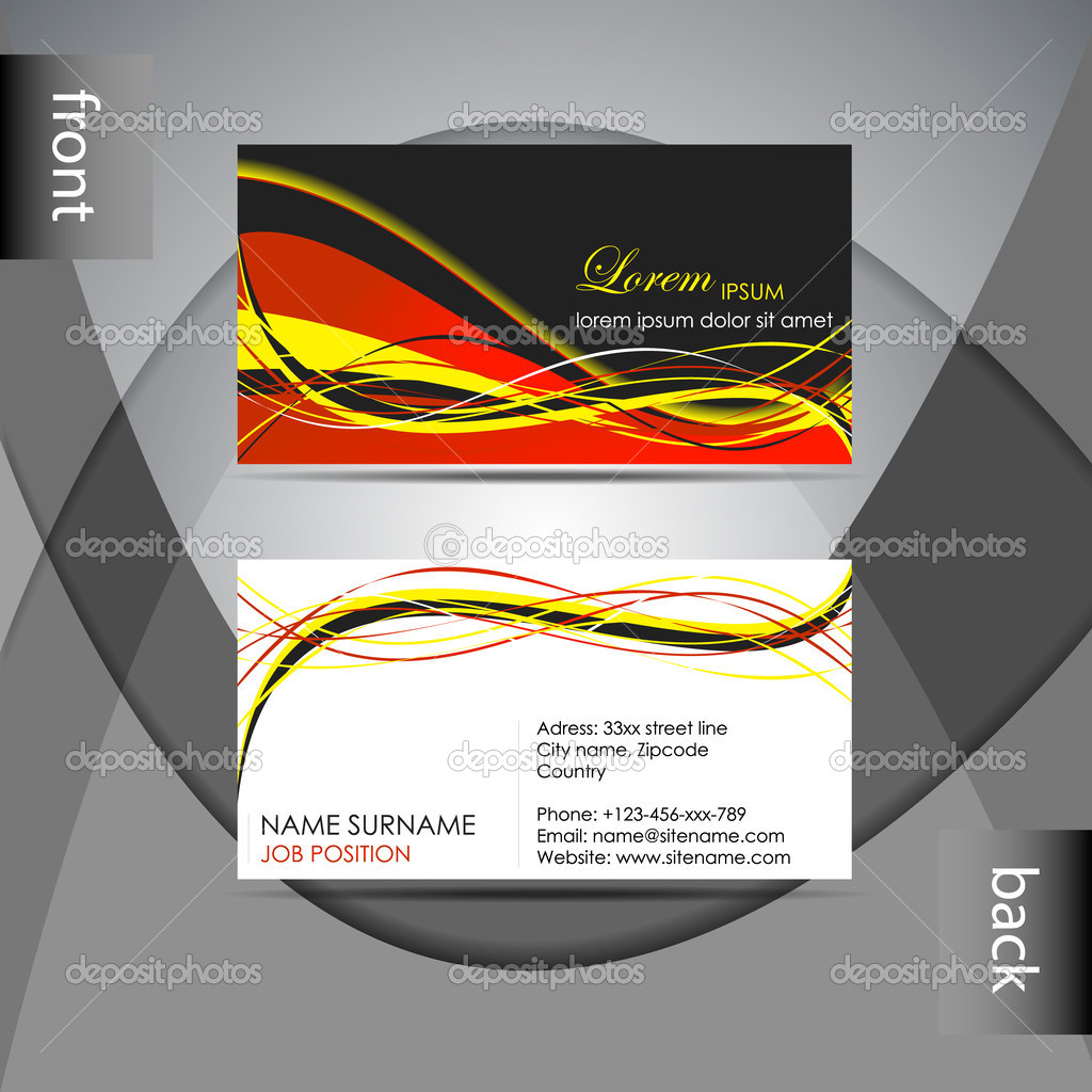 Abstract professional business card template or visiting card set abstract professional business card template or visiting card set stock vector flashek Choice Image