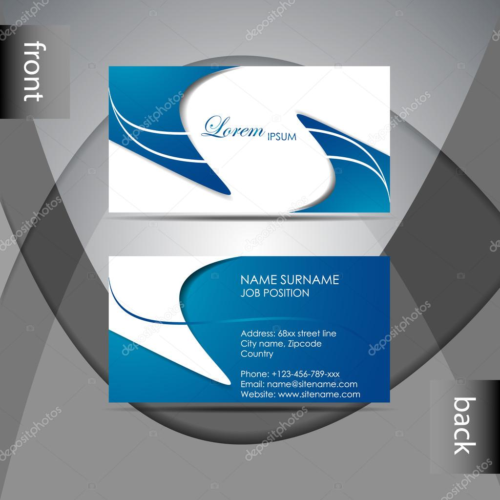 abstract professional business card template or visiting card set