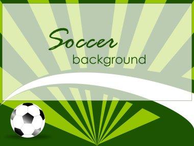 Modern sport template with soccer, football ball