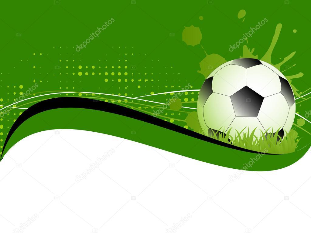 Futbol pelota de futbol en fondo verde vector de stock for Fondos de futbol