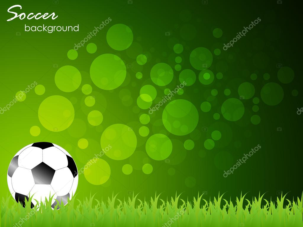 Futbol, Pelota De Futbol En Fondo Verde