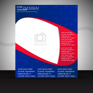 Professional business flyer template or corporate banner with USA style