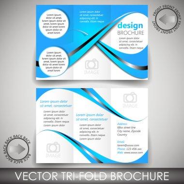 Tri-fold business store brochure template