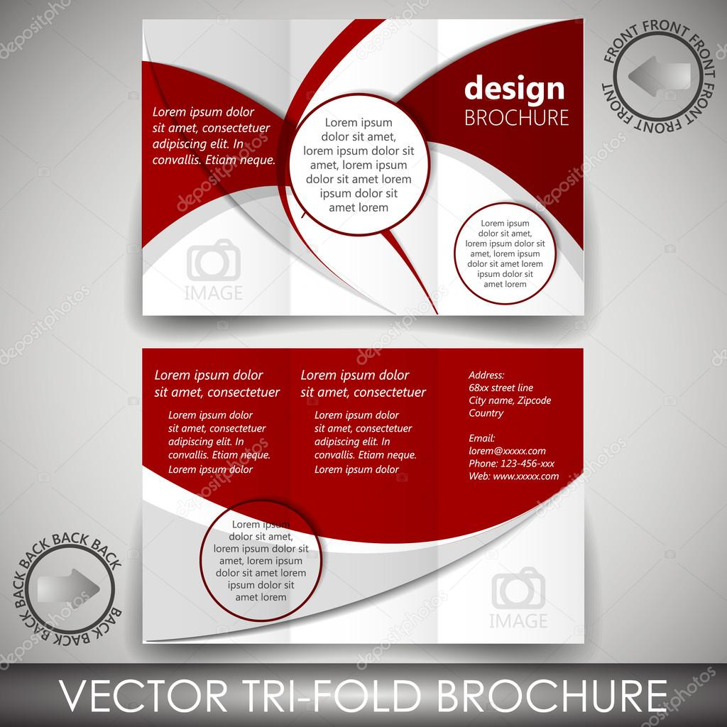 Tri-fold business store brochure template