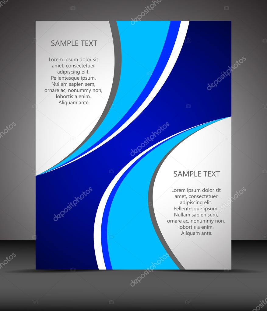 professional business flyer template or corporate banner stock