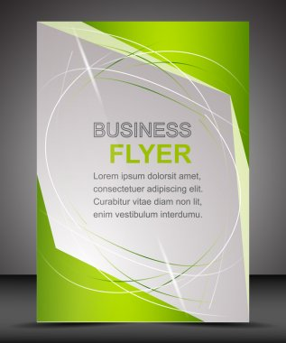 Business flyer template or corporate banner, brochure