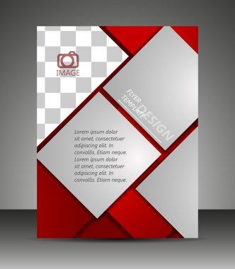 Professional business flyer template or corporate banner, brochure