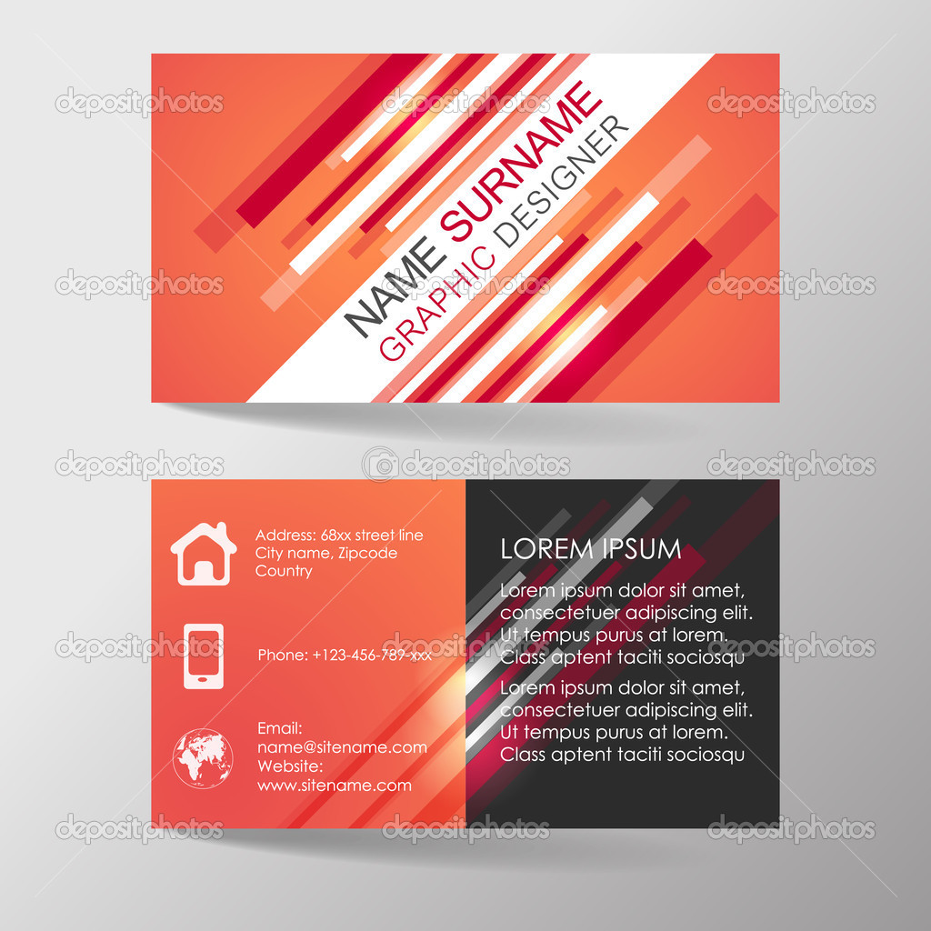 Modern professional business card template or visiting card set ...