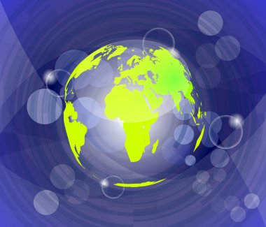 Background with globe, internet concept of global business