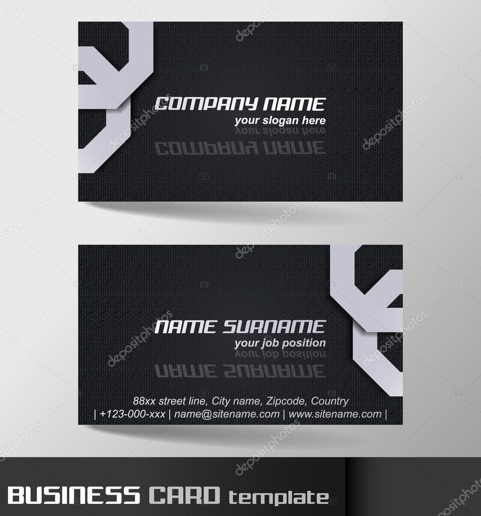 Business card template or visiting card set stock vector ftotti business card template or visiting card set stock vector reheart Images