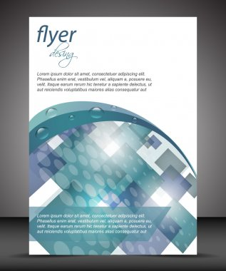 Business flyer template or corporate banner, cover design, brochure