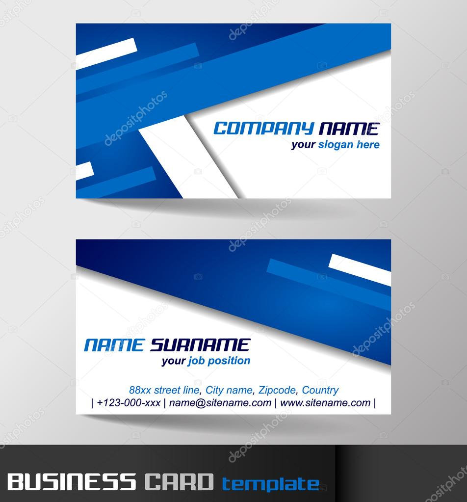 Business card template with front and back side stock vector business card template with front and back side stock vector accmission Image collections