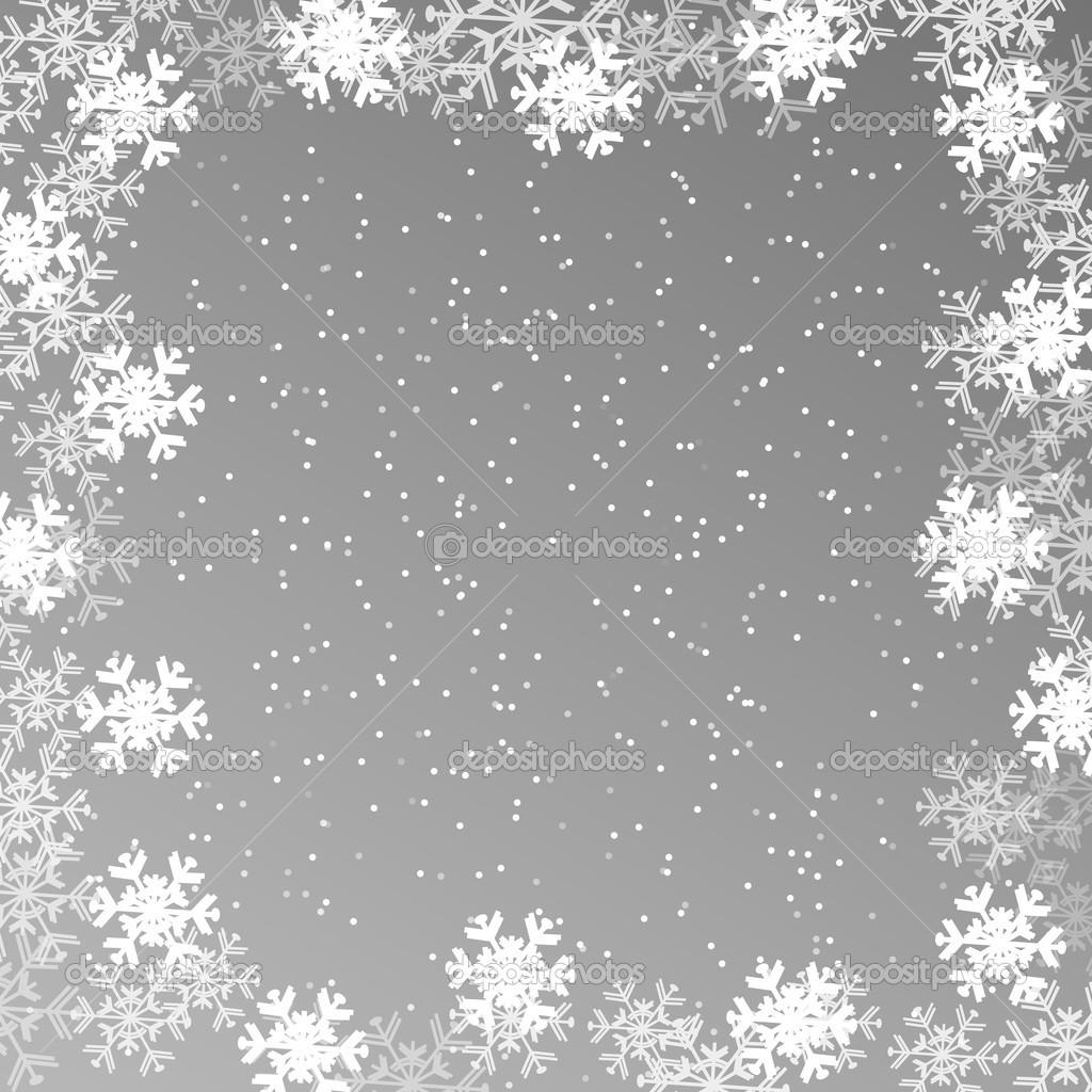 Weihnachten Wallpaper, Hintergrund mit Schneeflocken — Stockvektor ...