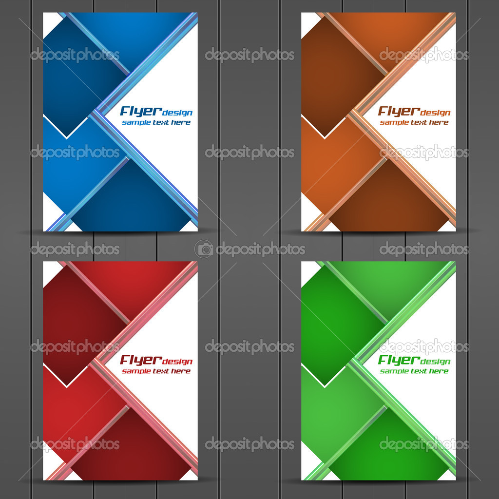 Collection of business flyer template brochures cover design – Sample Flyer Templates