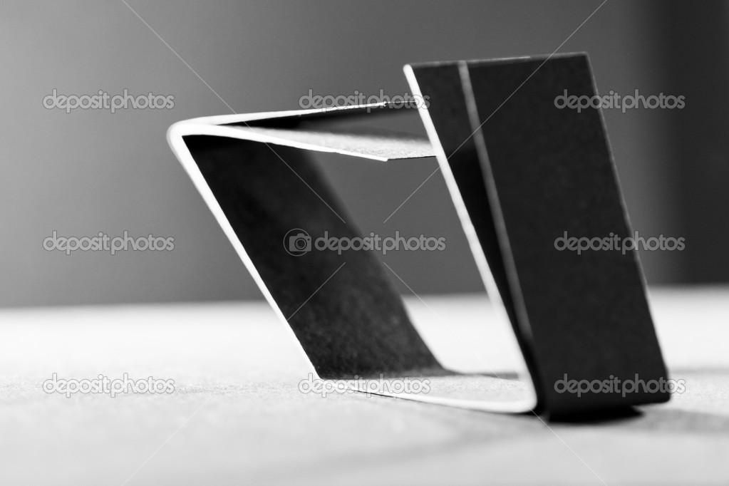 schwarzes Papier Formen und Schatten — Stockfoto © ileana_bt #43998157
