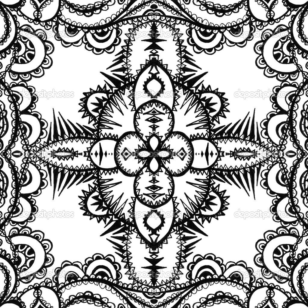 único patrón abstracto. hecho con bocetos y dibujos únicos — Foto de ...