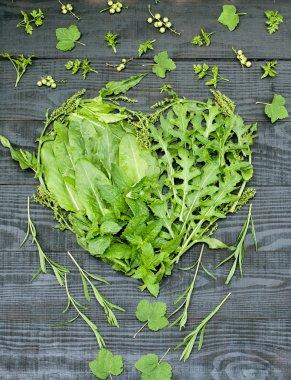 Green vitamin heart