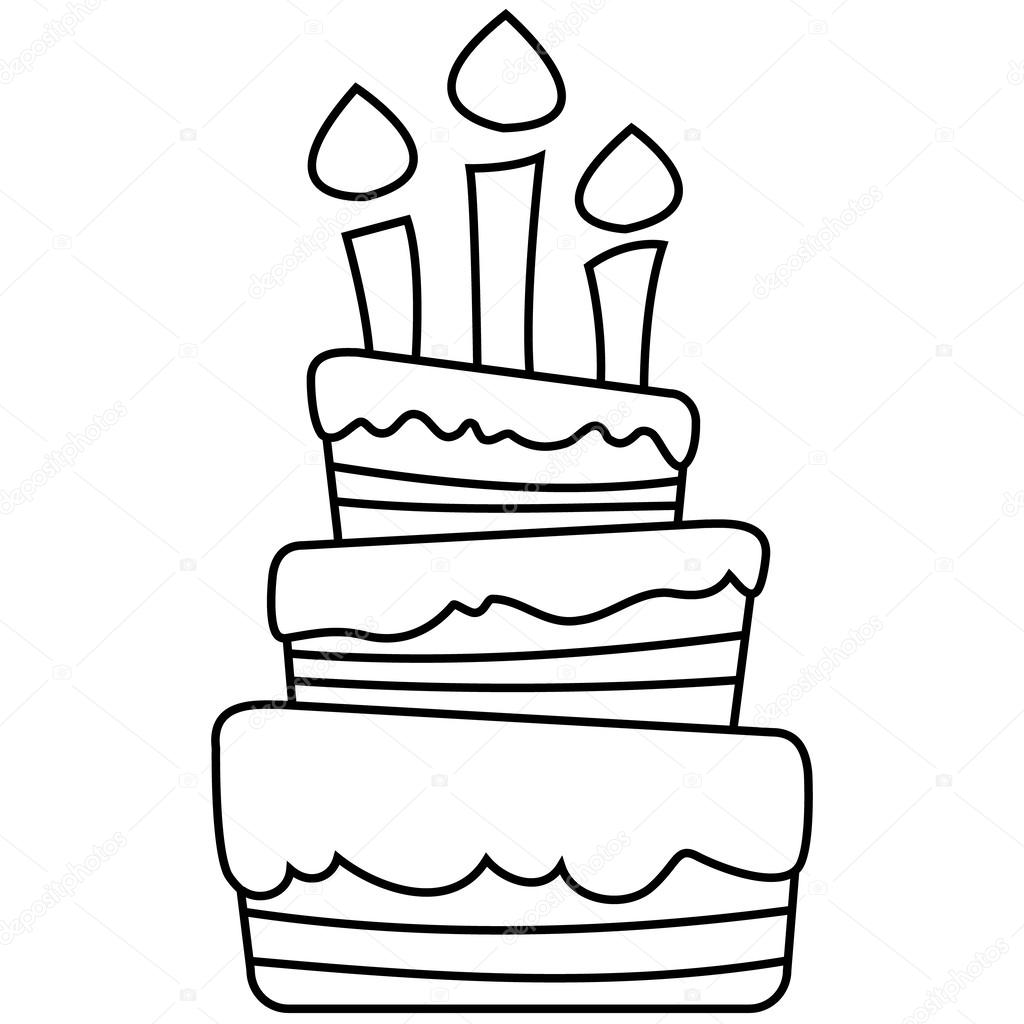 Doğum Günü Pastası Vektör çizim Stok Vektör Blackberryjelly