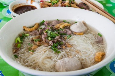 Chinese noodles in soup