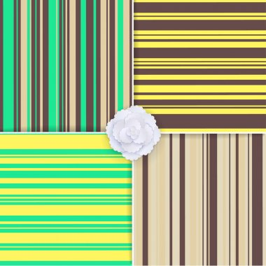 Set of vector seamless striped patterns