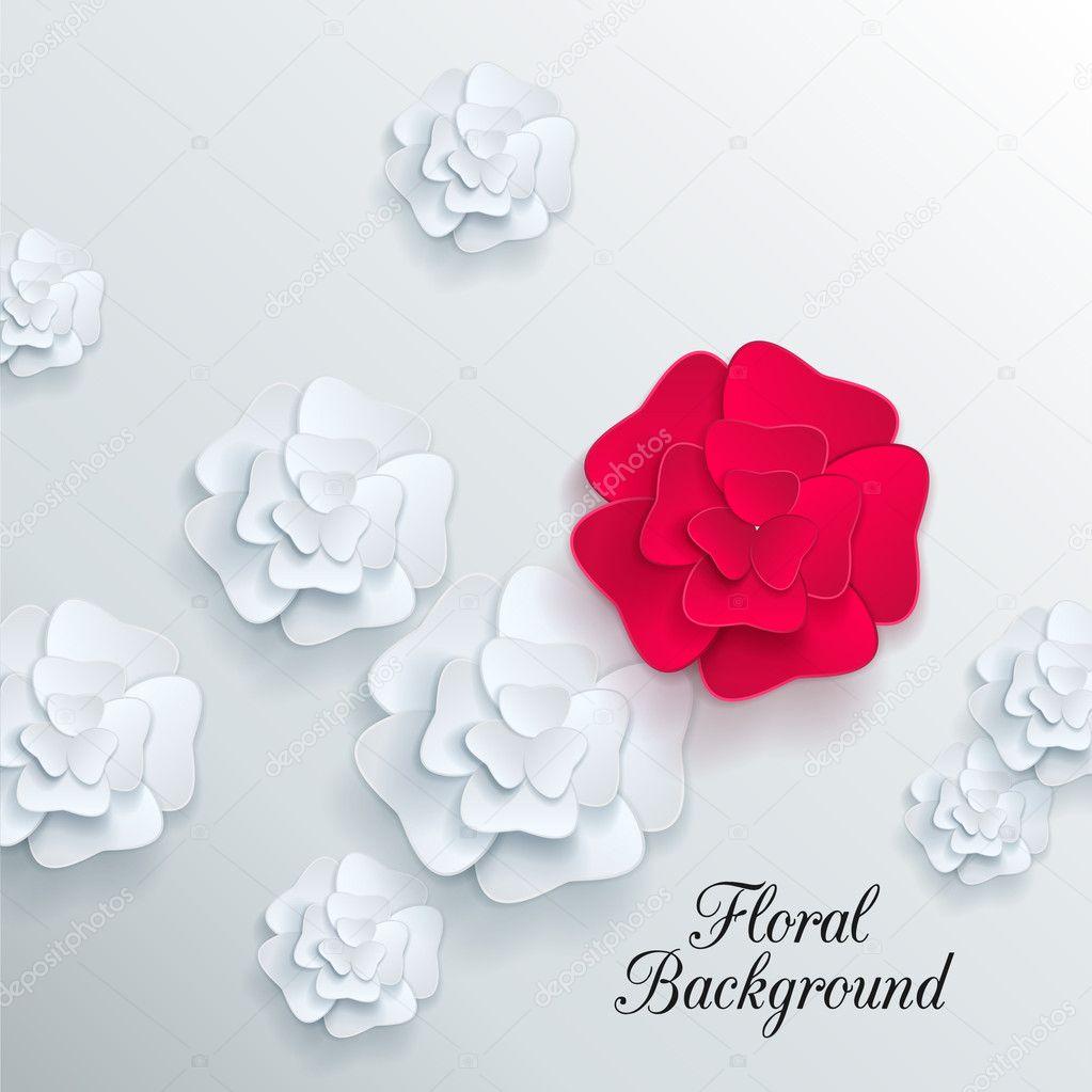Цветы 3 д из бумаги