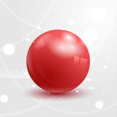 Abstract red glossy sphere.