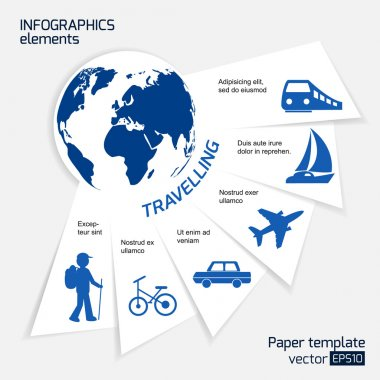 Travel infographics web design.
