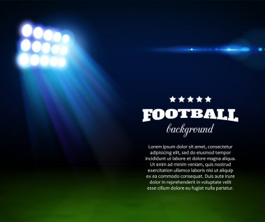 Football background with green field