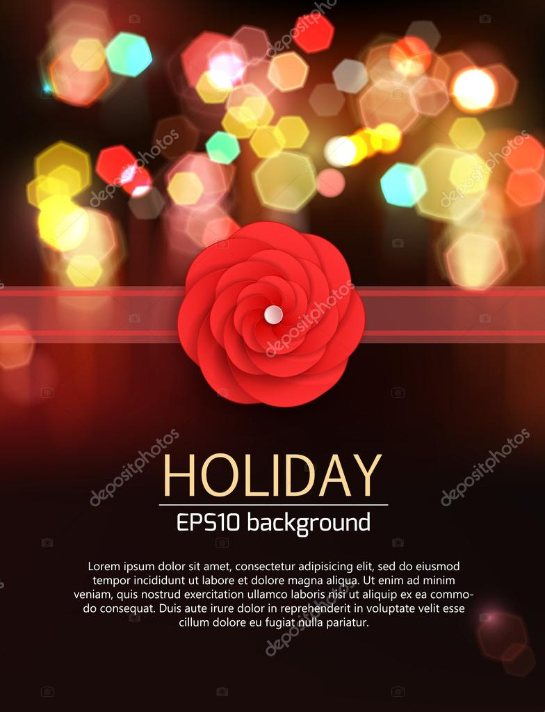 Floral holiday background.