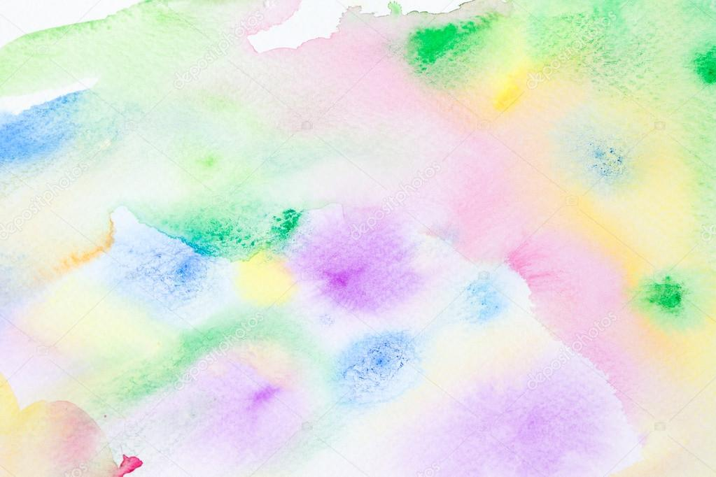 Spring Watercolor Abstract Background Stock Photo