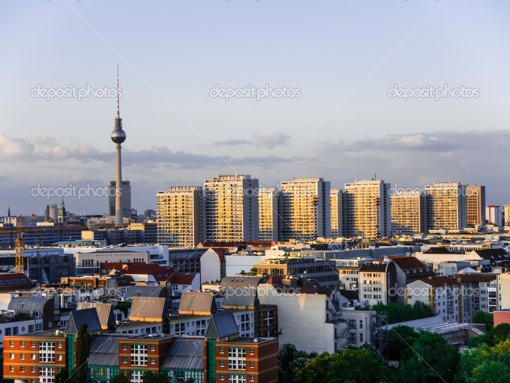 berlin city panorama stock photo spcreative 36925087. Black Bedroom Furniture Sets. Home Design Ideas