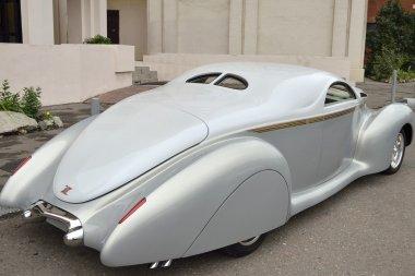 Silver retro car