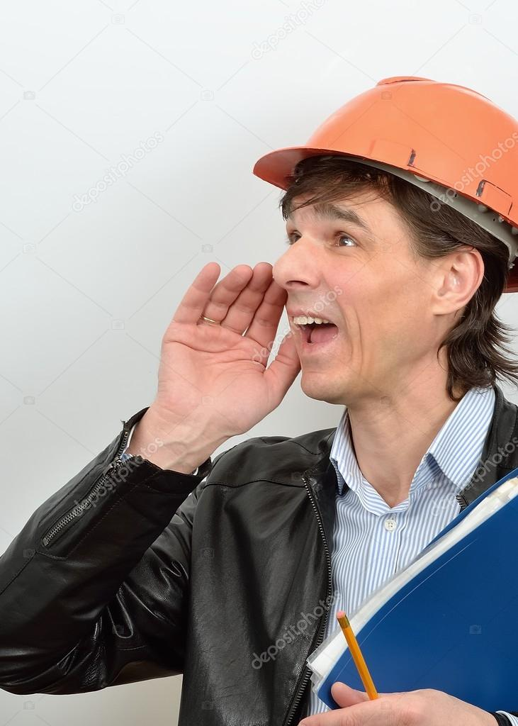 Screaming chief construction foreman