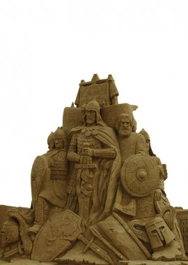 Figures from sand