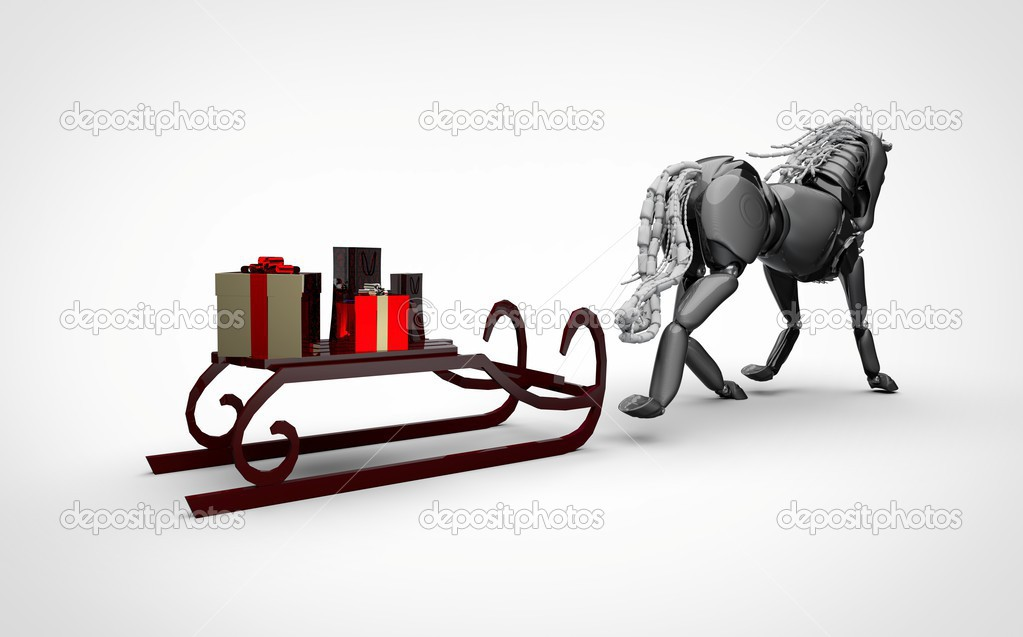 Robotic Horse and a sleigh